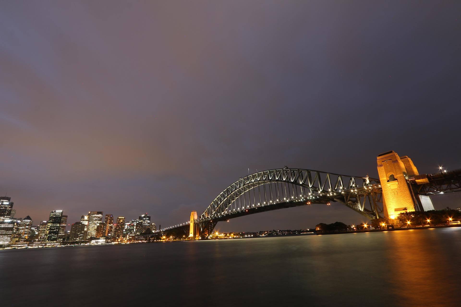 Sydney Harbour Bridge at Night John Luhr Photography